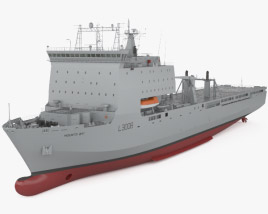3D model of Bay-class landing ship