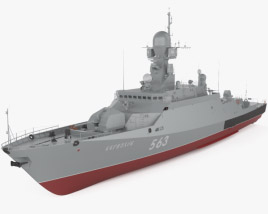 3D model of Buyan-M-class corvette