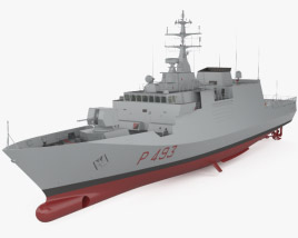 3D model of Comandanti-class patrol vessel
