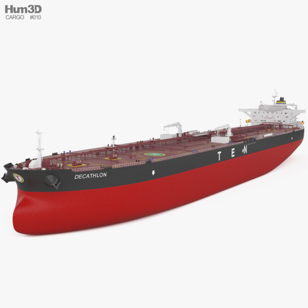 3D model of Crude Oil Tanker Decathlon