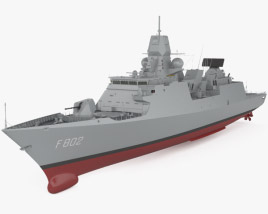 3D model of De Zeven Provincien-class frigate