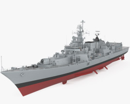 3D model of Delhi-class destroyer