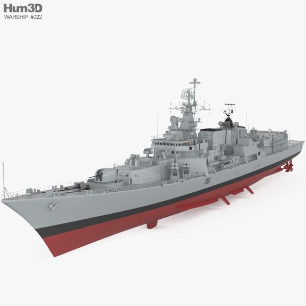 Delhi-class Cacciatorpediniere Modello 3D