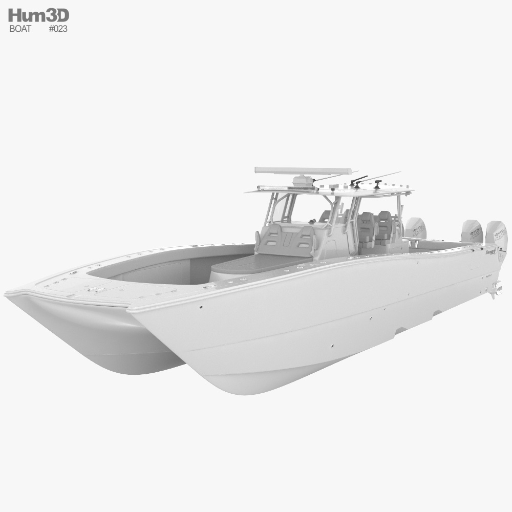 Freeman 47 Fishing Boat 3D model