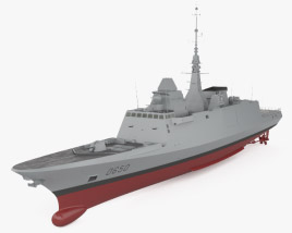 3D model of French frigate Aquitaine