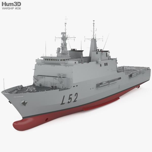 Galicia-class landing platform dock 3D model