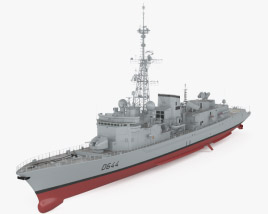 3D model of Georges Leygues-class frigate