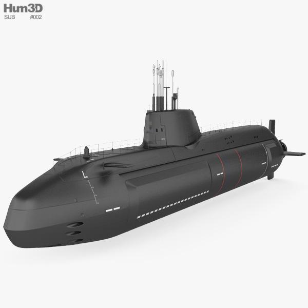 HMS Astute submarine 3D model