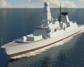3D model of HMS Daring D32
