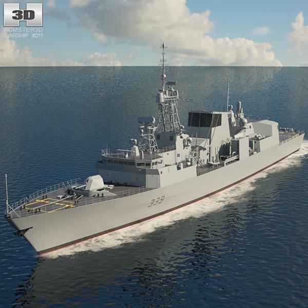 Halifax class Fregata Modello 3D