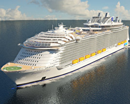 3D model of Harmony of the Seas cruise ship