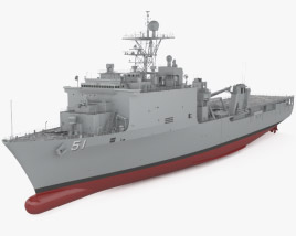 3D model of Harpers Ferry-class dock landing ship