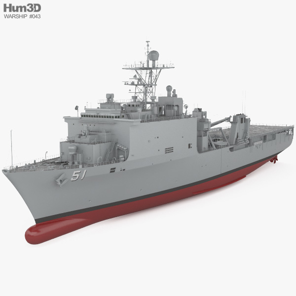 Harpers Ferry-class dock landing ship 3D model