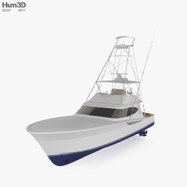 Hatteras GT65 Carolina Sportfishing Yacht 3D model
