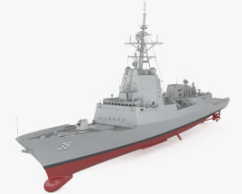 3D model of Hobart-class destroyer