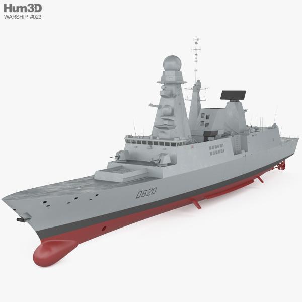 3D model of Horizon-class frigate