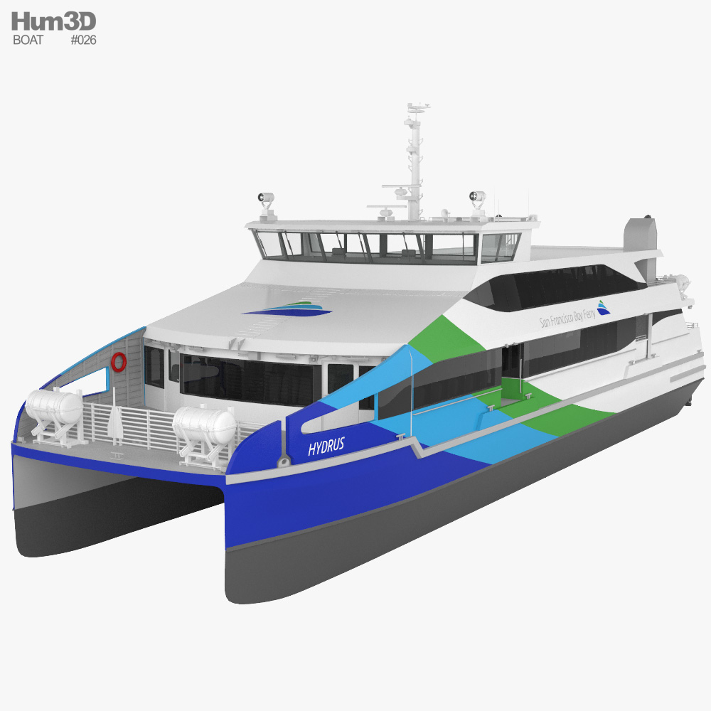 Hydrus catamaran 3D model
