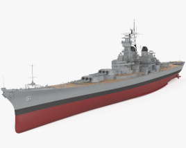 3D model of Iowa-class battleship