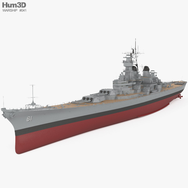 Iowa-class battleship 3D model