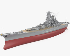 3D model of Japanese battleship Yamato