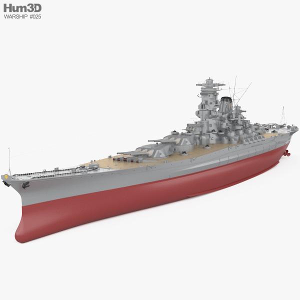 Japanese battleship Yamato Modello 3D