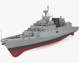 3D model of Kamorta-class corvette