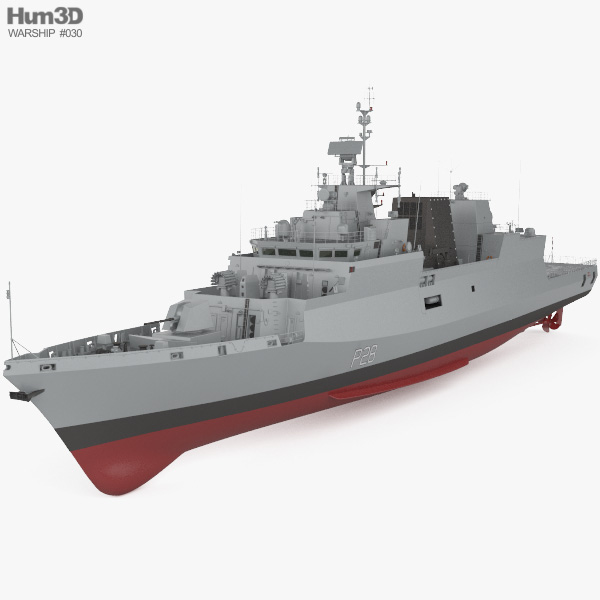 Kamorta-class corvette 3D model