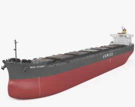 3D model of Kamsarmax Bulk Carrier