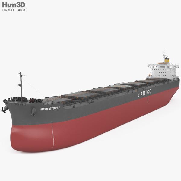 3D model of Kamsarmax Bulk Carrier