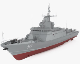 3D model of Karakurt-class corvette