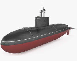 3D model of Kilo-class submarine