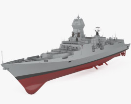 3D model of Kolkata-class destroyer