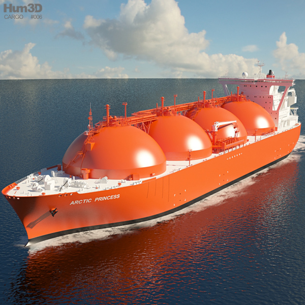 3D model of LNG Carrier Arctic Princess