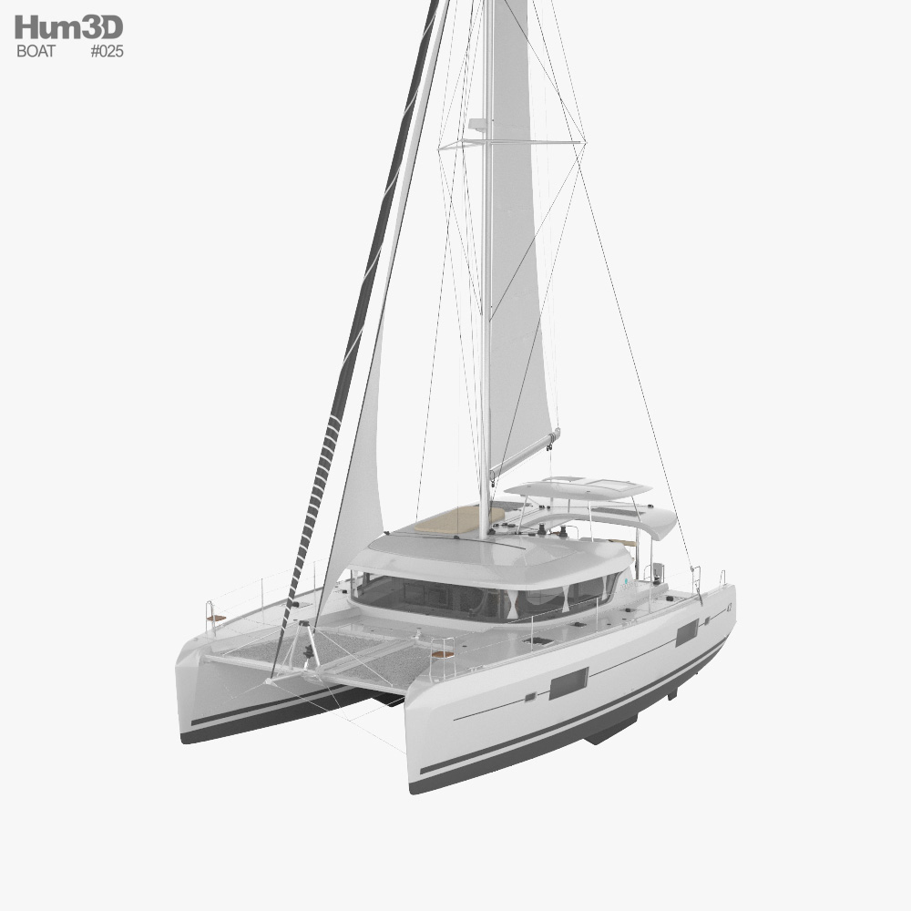 Lagoon 42 catamaran 3D model