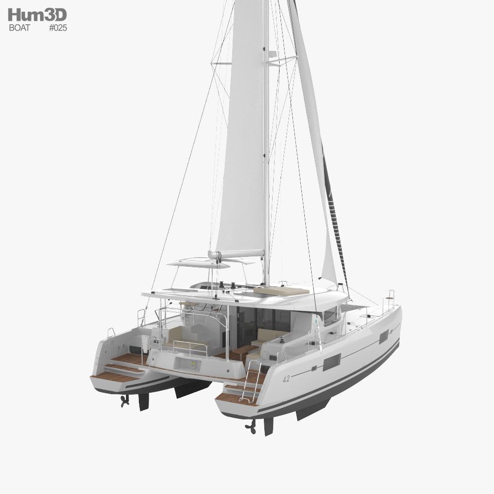 Lagoon 42 catamaran 3d model