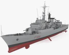 3D model of Lupo-class frigate