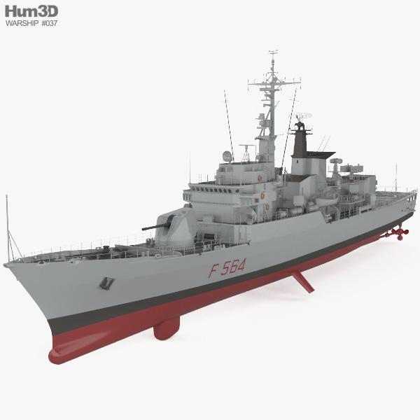 Lupo-class frigate 3D model