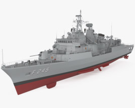 3D model of MEKO 200TN frigate