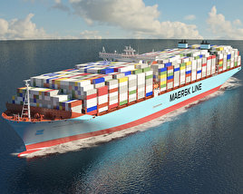 3D model of Maersk Triple E-class container ship