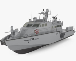 3D model of Mark VI patrol boat