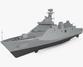 3D model of Martadinata-class frigate