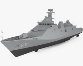 Martadinata-class frigate 3D model