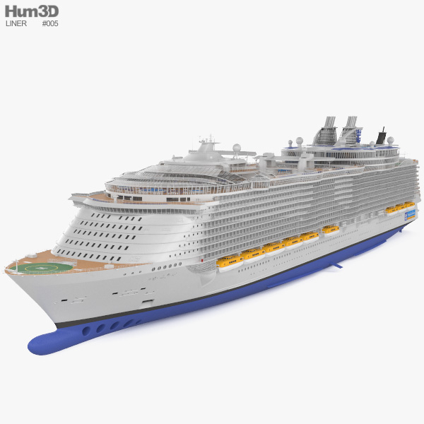 3D model of Oasis of the Seas