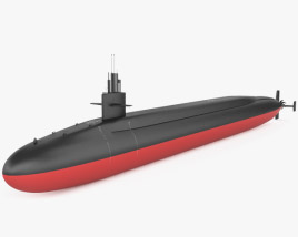 3D model of Ohio-class submarine