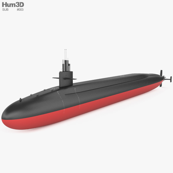 Ohio-class submarine 3D model
