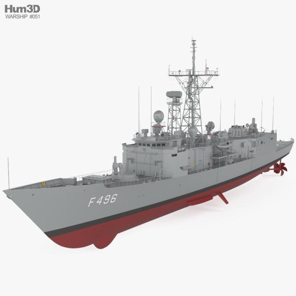 Oliver Hazard Perry-class frigate 3D model