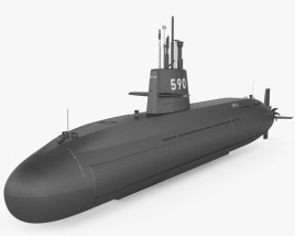 3D model of Oyashio-class submarine
