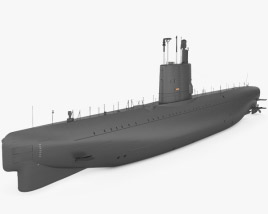 3D model of Potvis-class submarine