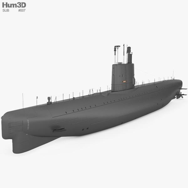 Potvis-class submarine 3D model