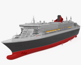 3D model of RMS Queen Mary 2